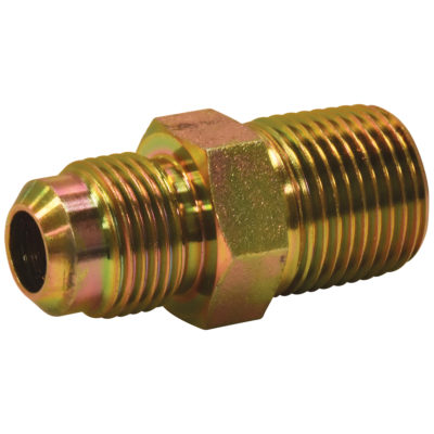 "1/2"" OD Flare x 1/2"" MIP Adapter Gas Fitting (Tapped 3/8"" FIP)"