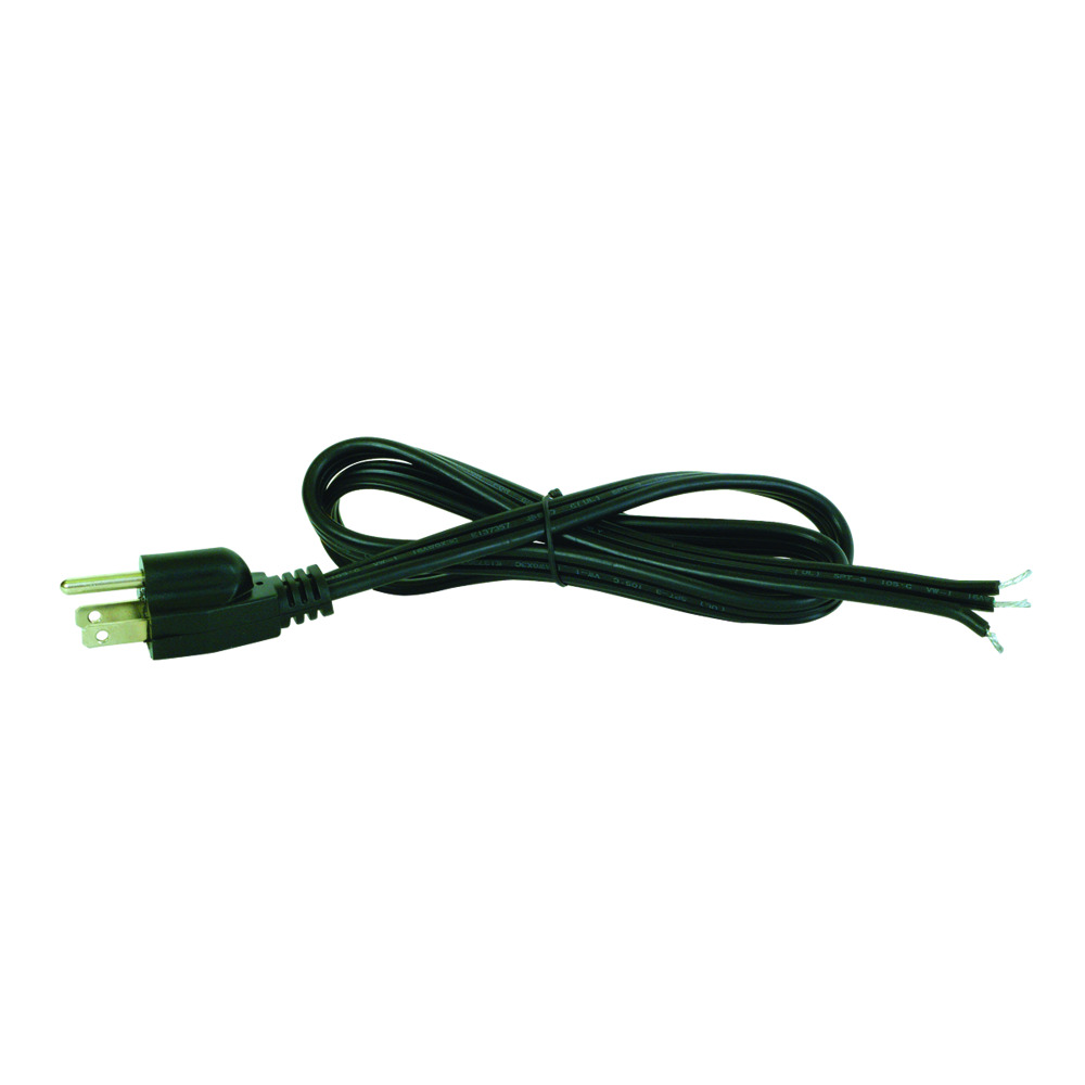 3' Straight Pigtail Power Cord