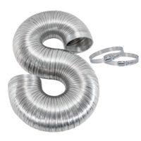 """4"""" x 8' Semi-Rigid Aluminum Dryer Duct"""