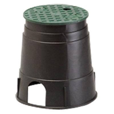 "Valve/Meter Box - Round - 10"" Black/Green Lid"