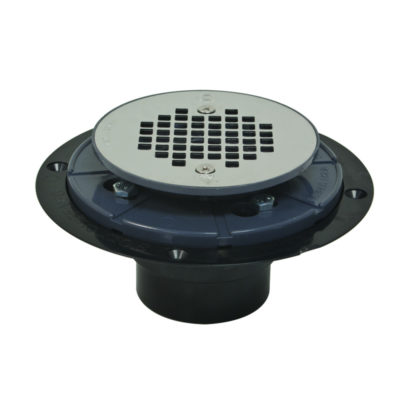 PVC Shower Pan Drain with Test Plug