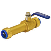 "3/4"" Push-Fit Slip Ball Valve"
