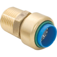 Eastman Brass Push-to-Connect Male Adapter - 1 in. x 1 in. FIP