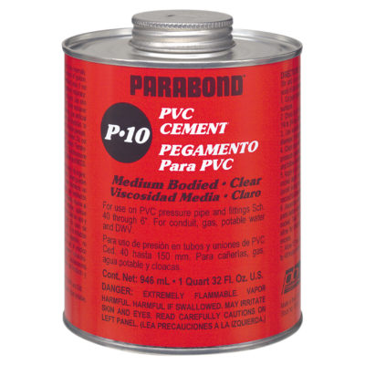 PVC Cement - Clear Regular Body - Pint