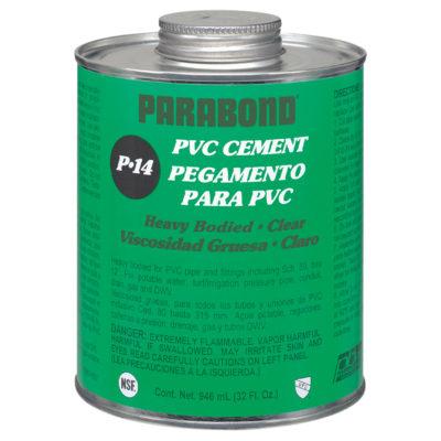 PVC Cement - Clear Heavy Body - Pint