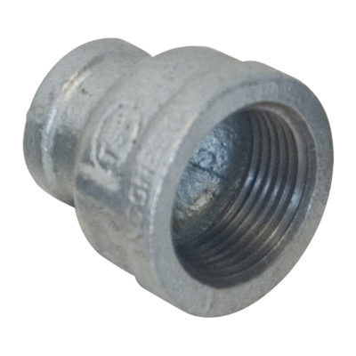 "1-1/4"" x 1"" Galvanized Bell Reducer"