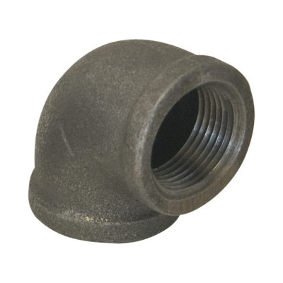 """3/8"""" Black Malleable 90° Elbow"""