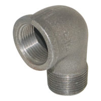 "1-1/2"" Black Malleable 90° Street Elbow"
