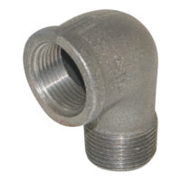 "2"" Black Malleable 90° Street Elbow"