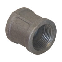 "1-1/4"" Black Malleable Banded Coupling"