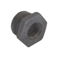 "1/2"" x 3/8"" Black Malleable Bushing"