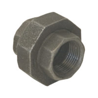 "1-1/4"" Black Malleable Union"