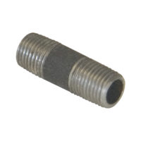 "1-1/4"" x 10"" Black Malleable Nipple"