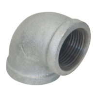 "1-1/2"" x 3/4"" Galvanized 90° Elbow"