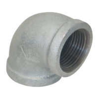 "2"" x 1"" Galvanized 90° Elbow"