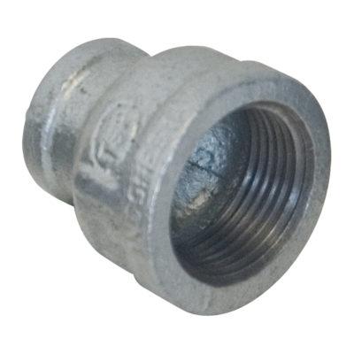 "1-1/4"" X 1/2"" Galvanized Bell Reducer"