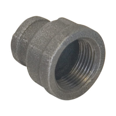 """1-1/4"""" x 1/2"""" Black Malleable Bell Reducer"""