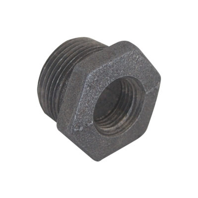 "1-1/4"" x 1/2"" Black Malleable Bushing"