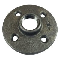 "1-1/4"" Black Malleable Floor Flange"