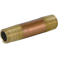 "1/2"" MIP x 4""  Red Brass Nipple"