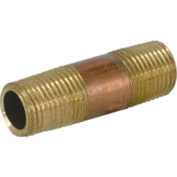 "3/4"" MIP x 3"" Red Brass Nipple"
