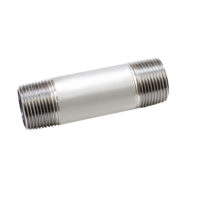 1 in. x 10 in. Schedule 40 304L Stainless Steel Nipple