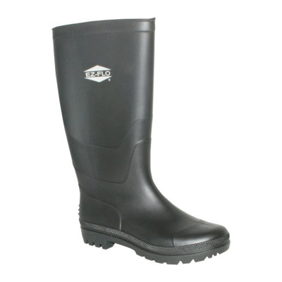 Rubber Boots - Size 9 Black Long Water Boot