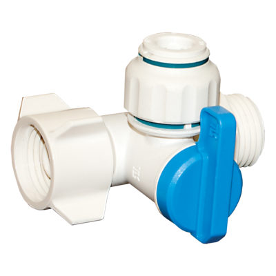 "1/2"" FIP x 1/2"" MIP x 3/8"" OD Add-A-Outlet Valve"