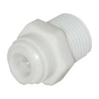 "1/2"" OD x 3/8"" MIP Male Adapter"