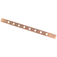 "Copper-Plated Support Bracket - 1/2"" Holes"