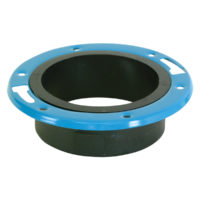 "4"" x 3"" Hub Adjustable Closet Flange - ABS/DWV"
