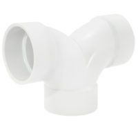 "4"" Double Elbow - PVC DWV"