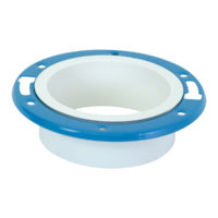 "4"" x 3"" Hub Adjustable Closet Flange - PVC DWV"