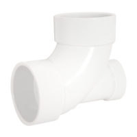"3"" x 3"" x 2""   90° Elbow with Low Heel Inlet - PVC DWV"