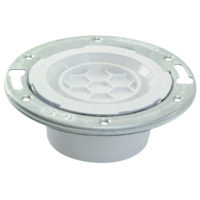 "4"" x 3""  Hub Closet Techno Flange with Knockout - PVC DWV"