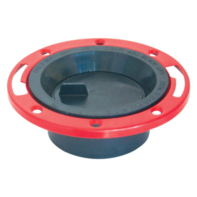 """4"""" x 3"""" Hub ABS Closet Flange with Knockout"""
