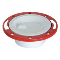"4"" x 3"" Hub Closet Flange with Knockout - PVC DWV"