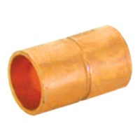 "1-1/2"" x 1"" Coupling with Stop - Copper"