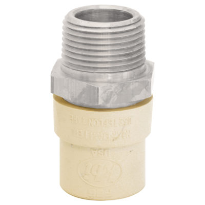 """1/2"""" CPVC x Strainless Steel Transition Male Adapter"""