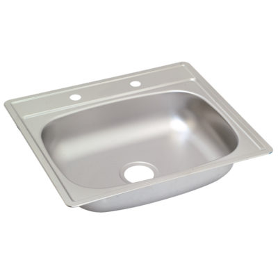 Single Bowl Stainless Steel Kitchen Sink - 4 Hole