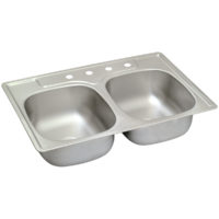 Double Bowl Stainless Steel Kitchen Sink - 4-Hole