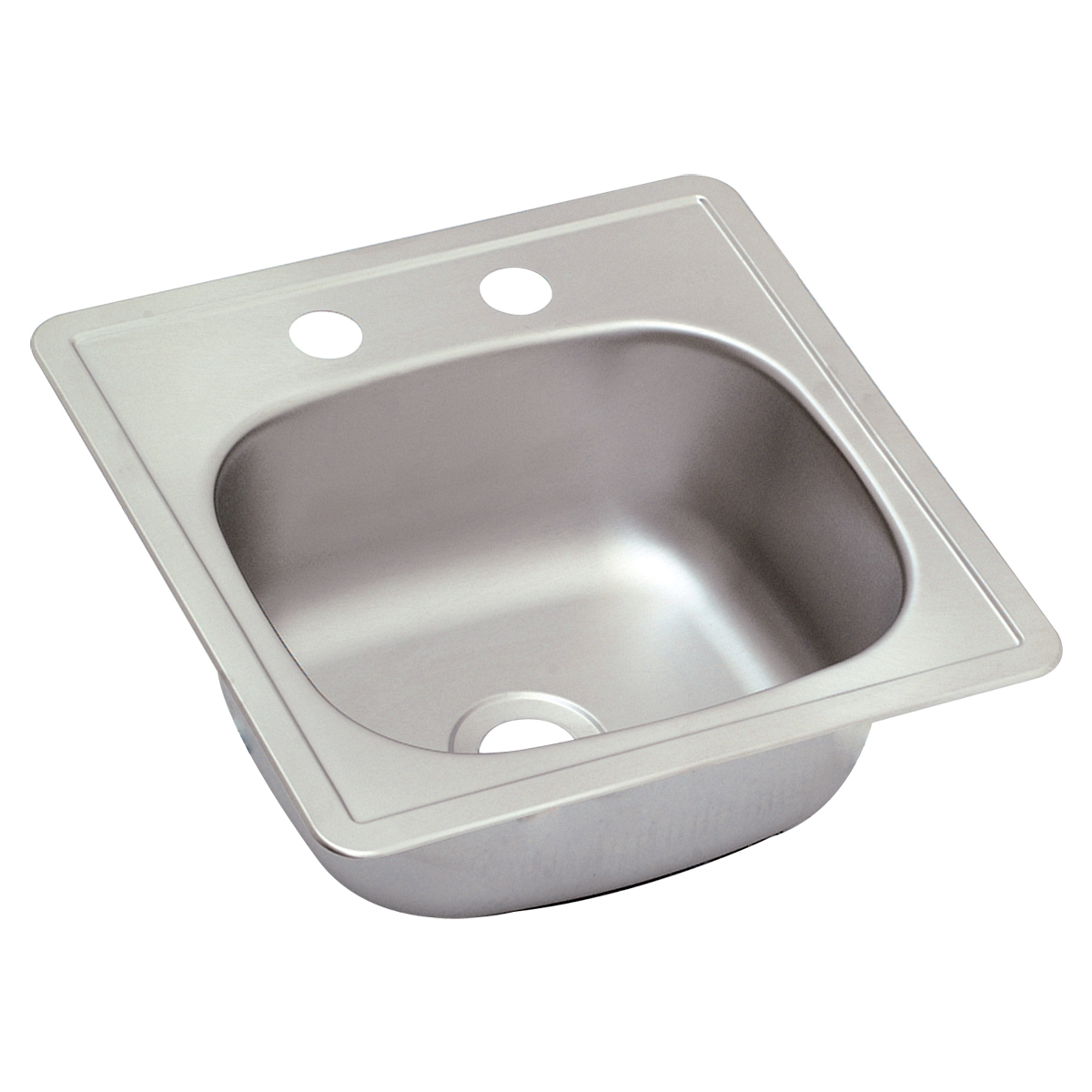 Single Bowl Stainless Steel Bar Sink   2 Hole