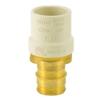 CPVC x Brass Transition PEX Adapter - 1 in. Slip x 1 in. PEX