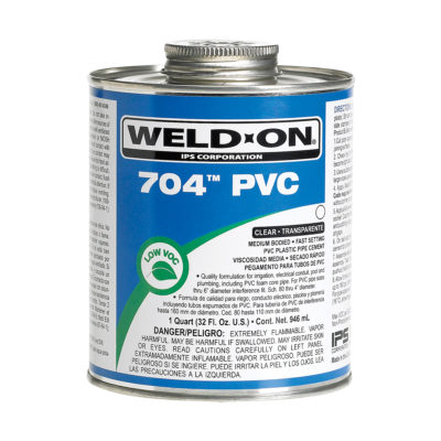 PVC Cement - Clear Medium Body - Quart