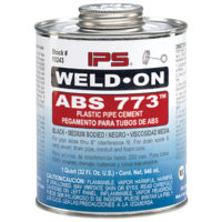 ABS Cement - Black Medium Body - 1/2 Pint