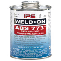 ABS Cement - Black Medium Body - Gallon