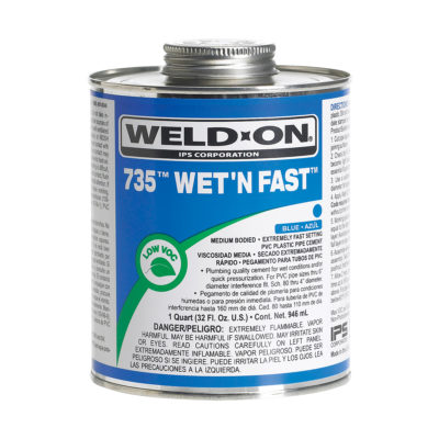 West and Fast PVC Cement - Medium Body - 1/2 Pint