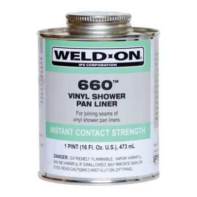 Weld-On Shower Pan Solvent - PVC - Pint