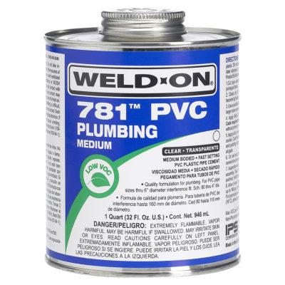 PVC Cement - Clear Regular Body - 1/2 Pint