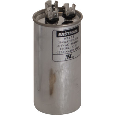 40+5 MFD Dual Run Capacitors - Round (370 VAC)